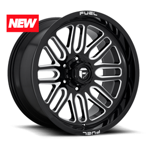 Fuel Ignite D662 - Gloss Black and Milled