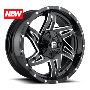 Fuel Rocker D613 - Gloss Black and Milled