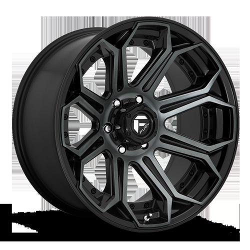 Fuel Siege D704 - Gloss Black with Dark Tint Machined