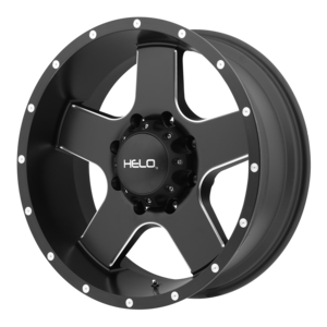 Helo Wheels HE886 - Black and Milled