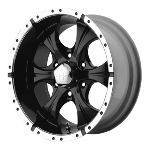 Helo Wheels HE791 - Black and Machined