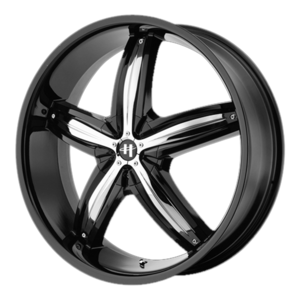 Helo Wheels HE844 - Black with Chrome Inserts