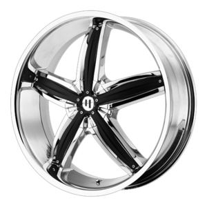 Helo Wheels HE844 - Chrome with Black Inserts