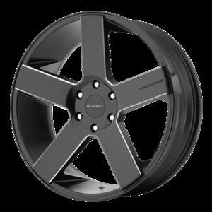 KMC Wheels KM690 MC5 - Satin Black and Milled