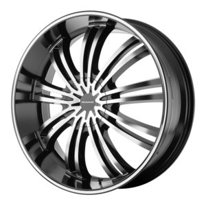 KMC Wheels KM682 Spider - Black and Machined