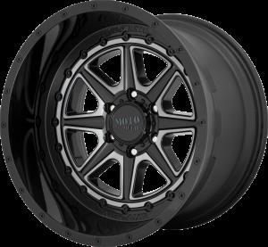 Moto Metal MO801 Phantom - Gloss Black with Gray Tint
