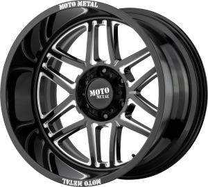 Moto Metal MO992 Folsom - Black and Milled