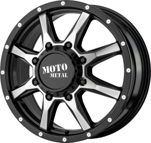 Moto Metal MO995 Dually - Gloss Black and Machined