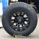 17x9 Fuel Offroad Vapor D560 Black - 285/70r17 Nitto Ridge Grappler