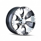 Ion Alloy Trailer Wheel Style 136 - Black and Machined