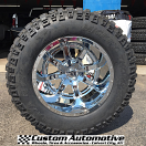 20x14 Fuel Maverick D536 Chrome - 36x15.50r20 Mickey Thompson MTZ P3