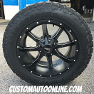 20x10 Moto Metal MO970 Black and Milled - LT285/55r20 Toyo Open Country AT2 Extreme