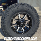17x8 Moto Metal 970 Black - LT285/75r17 Nitto Trail Grappler