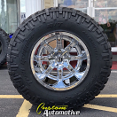 20x14 Fuel Maverick D536 Chrome - 40x15.50r20 Nitto Trail Grappler