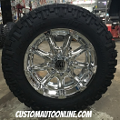 20x9 XD Badlands 779 Chrome - 35x11.50r20 Nitto Trail Grappler MT