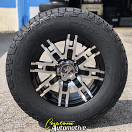 17x8 Helo HE835 Black - P265/70r17 Cooper Discoverer AT3 4s