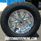 20x9 XD Badlands 779 Chrome - LT295/60r20 Nitto Terra Grappler