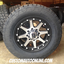 20x9 XD Addict 798 Black and Machined - LT295/60r20 Nitto Terra Grappler