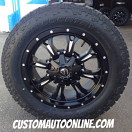 20x9 Fuel Offroad Krank D517 Black and Milled - LT285/55r20 Toyo Open Country AT2 Extreme