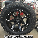 20x9 Dropstars 647BM Black and Milled - LT295/60r20 Nitto Ridge Grappler