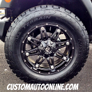 20x9 Fuel Hostage D531 Black - LT295/60r20 Nitto Terra Grappler