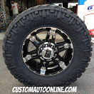 18x8.5 XD Spy 797 Black - LT295/70r18 Nitto Trail Grappler