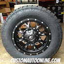 18x9 Fuel Krank D517 Black - 285/60r18 Nitto Terra Grappler G2