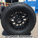 18x9 KMC XD Hoss 795 Black - 35x12.50r18 Toyo Open Country AT2 Extreme