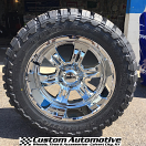 20x10 Ultra Predator 2 249 Chrome - 33x12.50r20 Toyo Open Country MT