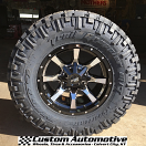17x9 Moto Metal 970 Black and Machined - LT295/70r17 Nitto Trail Grappler