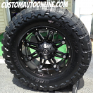 20x10 Fuel Hostage D531 Black - 38x13.50r20 Toyo Open Country M/T