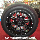 18x9 Fuel Lethal D567 Black - 225/60r18 Milestar MS932