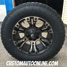 20x10 Fuel Vapor D569 Matte Black with Dark Tint Machined - 35x12.50r20 Nitto Terra Grappler G2