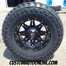 17x9 Fuel Hostage D531 Black - LT285/70r17 AMP M/T tires
