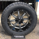 20x10 Moto Metal MO970 Gray Center with Black Lip - LT305/55r20 Nitto Terra Grappler G2