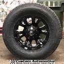 18x9 Fuel Vapor D560 Matte Black - LT325/60r18 Nitto Dura Grappler