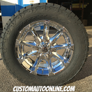 20x9 XD Badlands 779 Chrome - LT305/55r20 Nitto Terra Grappler G2