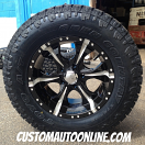 18x9 Helo Maxx HE791 Black and Milled - LT285/65r18 Toyo Open Country ATII Extreme