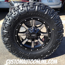 17x8 Moto Metal 970 Black - LT285/70r17 Nitto Trail Grappler