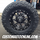 18x9 Fuel Krank D517 Black - 35x12.50r18 Nitto Trail Grappler