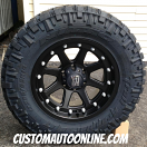 18x9 KMC XD Addict 798 Black - LT285/65r18 Nitto Trail Grappler