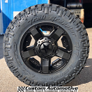 18x9 KMC XD Rockstar II RS2 811 Black - LT275/70r18 Nitto Trail Grappler