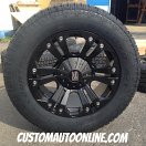 20x9 KMC XD Series Monster 778 Black - 275/60r20 Toyo Open Country AT2