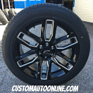 20x8.5 Platinum Allure 252 Gloss Black and Milled - 235/55r20 Nitto NT421Q All Season tires