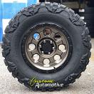 18x9 ATX 201 Matte Bronze with Black Lip - 35x12.50r18 Nitto Mud Grappler