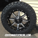 20x9 Fuel Offroad Maverick D537 Black/Machined - LT275/65r20 Nitto Trail Grappler