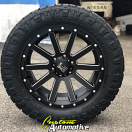 20x9 XD Heist 818 Black and Milled - LT295/55r20 Nitto Ridge Grappler