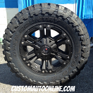 18x9 XD Monster 2 822 Black - 33x12.50r18 Toyo Open Country MT