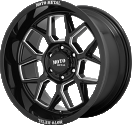 Moto Metal MO803 Banshee - Black and Milled