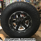 17x9 XD Rockstar III RS3 XD827 Black and Machined - 285/70r17 Toyo Open Country ATII